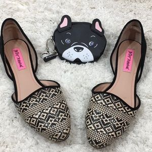 Betsy Johnson Cocoa cut out flats